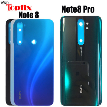 3D Glass For Xiaomi Redmi Note 8 Pro Back Battery Cover Door Rear Glass Redmi Note 8 Battery Cover Housing Case + Gule joliwow for xiaomi redmi 5 battery back cover rear housing metal door camera glass lens repair spare parts