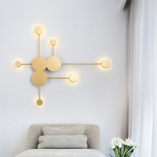 Nordic led Wall Lamp Black/Gold/White wall lamp Branches long arms wall lights for home staircase bedroom living room Decoration