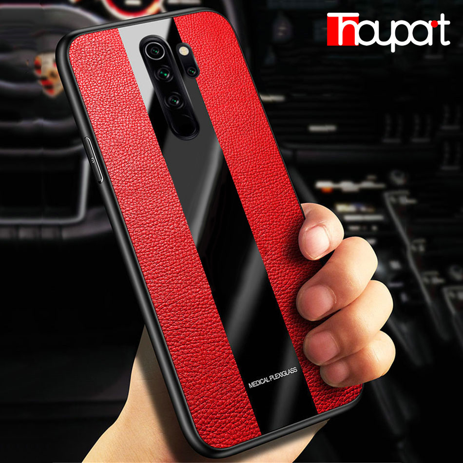 Luxury Case For Xiaomi Redmi Note 8 Pro Splicing Pu Leather Acrylic Glass Phone Fitted Cover For Xiaomi Redmi Note 8 Case Phone Case Covers Aliexpress