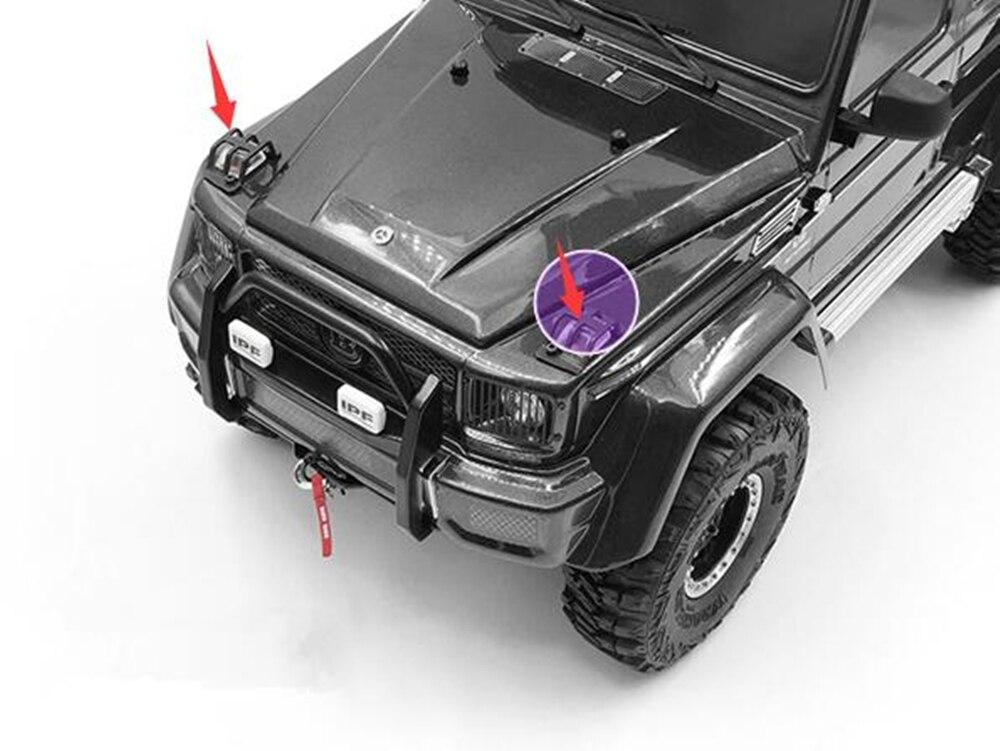 Metal Scheinwerfer Corner Lampenabdeckung für TRX-4 Mercedes G500 TRX6 G63 Auto