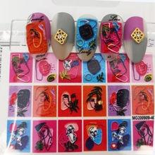 1 шт 3d акриловая Выгравированная наклейка для ногтей рельефные