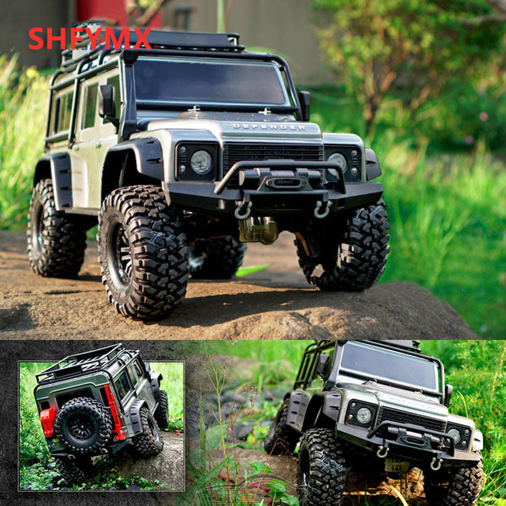 Traxxas Rc Remote Control Electric Off Road Vehicle Crawler Climbing Car Trx 4 Land Rover Defender Rc Cars Aliexpress