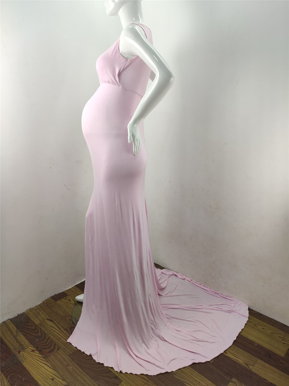 New Sleeveless maternity dresses maxi gown photo prop sexy pregnancy photography dress for pregnant women long shoot Dress 2020 (8)