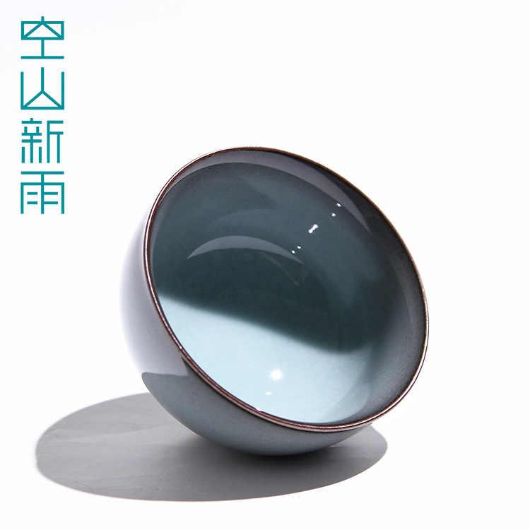 Trống Núi Tân Dư Long Tuyền Men Ngọc Quặng Thô Men Tay Sắt Lốp Xe Master Cup Kung Fu Trà Bộ Ấm Trà Kích Thước Lớn trà Bát