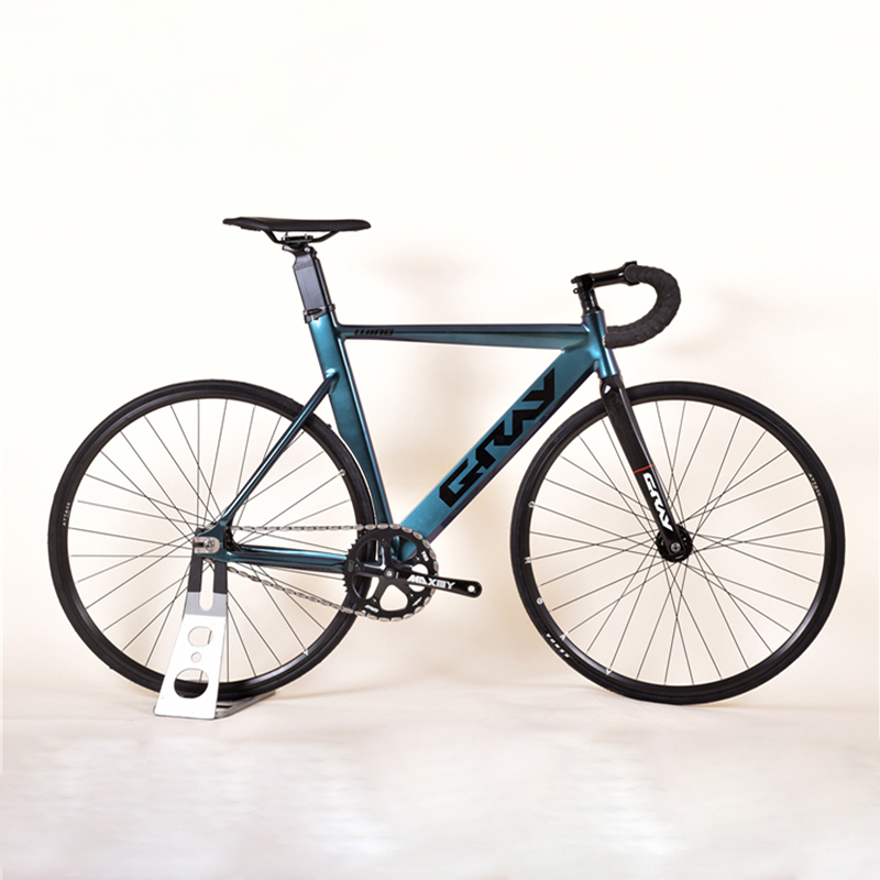 Fixie Bike 52cm frame single speed bike Welding frame white color Aluminum alloy Customize Track <font><b>Bicycle</b></font> <font><b>700C</b></font> <font><b>wheel</b></font> image