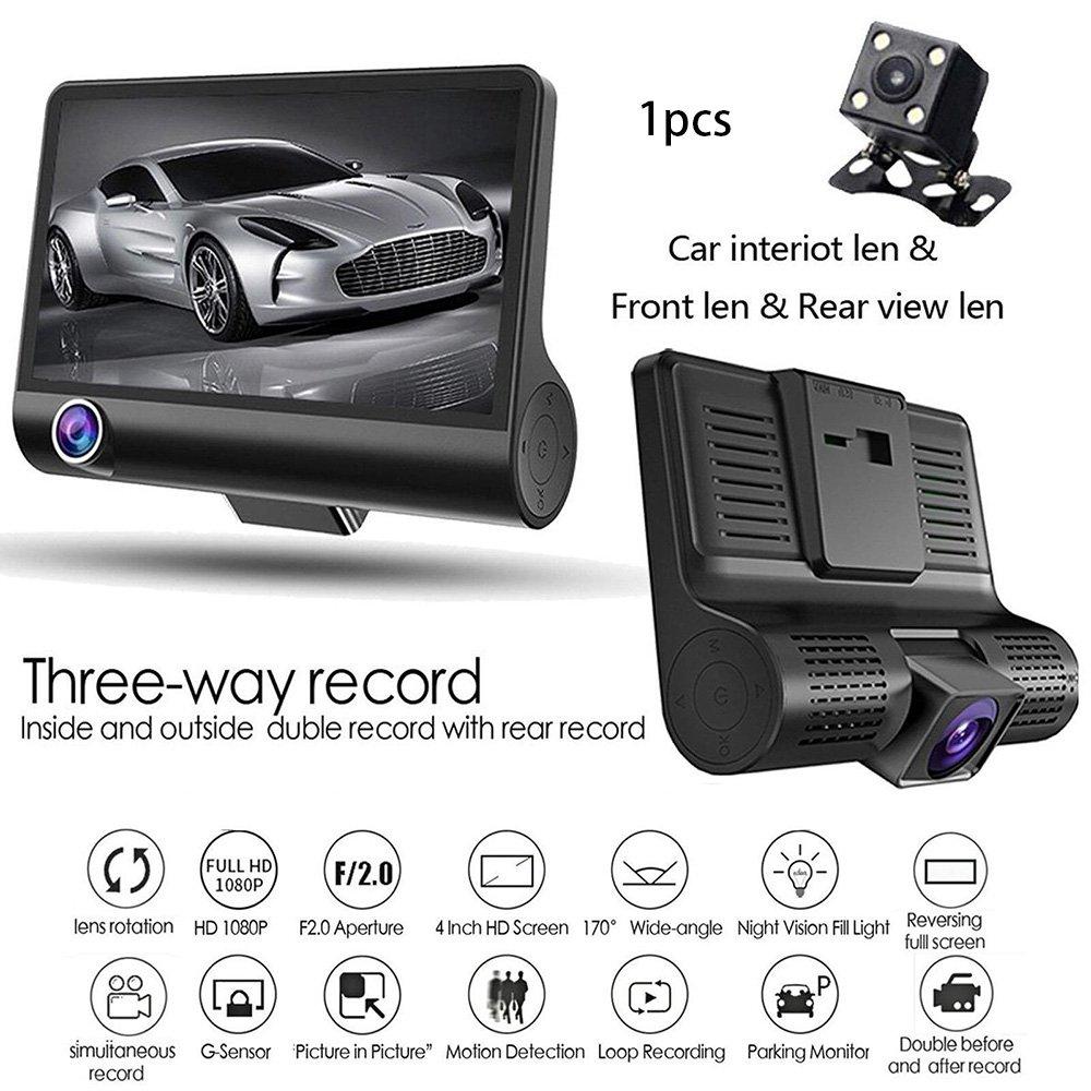 4,0 дюймов Автомобильный видеорегистратор камера Full HD 1080P двойной объектив заднего вида видеокамера рекордер Авто регистратор с ночным виде...
