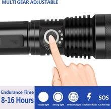 Лучший походный уличный фонарик xhp50.2, самый мощный фонарик с 5 режимами, светодиодный ффонарь с зумом и usb, аккумулятор xhp50 18650 или 26650