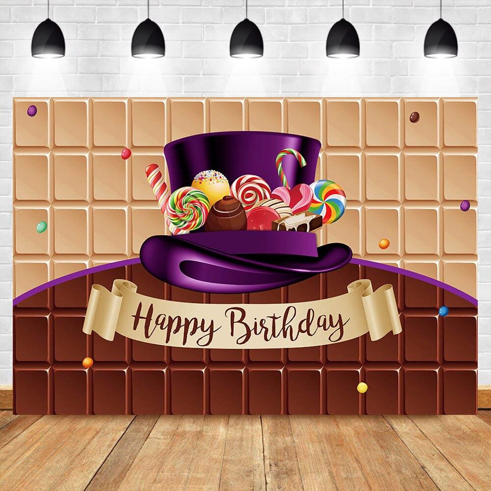 NeoBack Chocolate Magic cumpleaños telón de fondo cumpleaños fiesta postre Mesa Decoración Accesorios fotografía fondos para estudio fotográfico