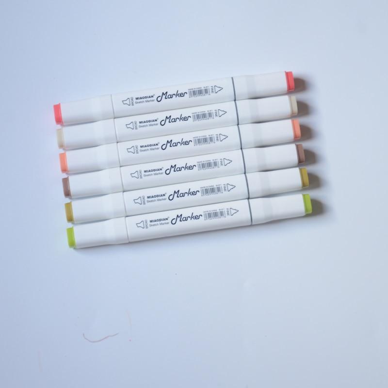marcador canetas para desenhar cabeça dupla feltro-ponta