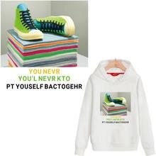 Модная обувь термоклейкие нашивки для одежды полосы на одежду