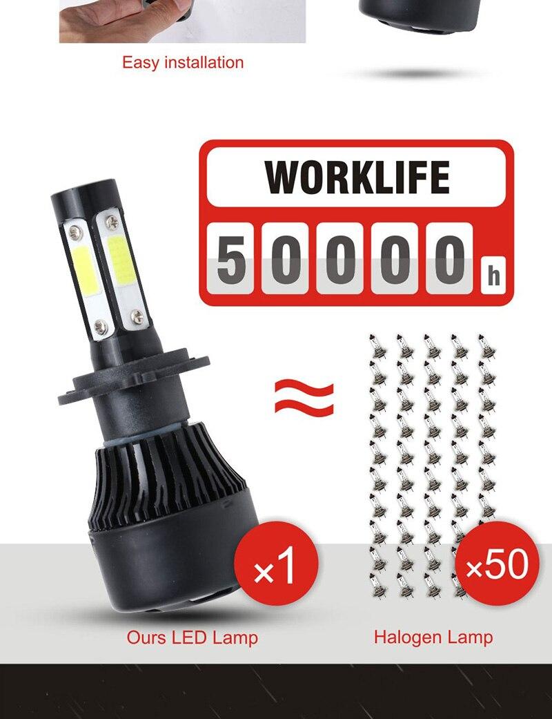 H3f648862d2d04aeabc11e860ffa219d27 TF30 New 4 Side Lumens COB 100W 10000lm H4 Hi lo H7 H11 9005 9006 Car LED Headlight Bulbs Auto Led Headlamp LED C6 Light 12v 24v