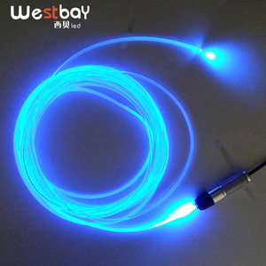 Westbay 3W LED Fiber Optic Light Engine 3.0mm Side Glow Optical Fiber LED Optic Fiber Light For Car Decoration Car Lighting(China)