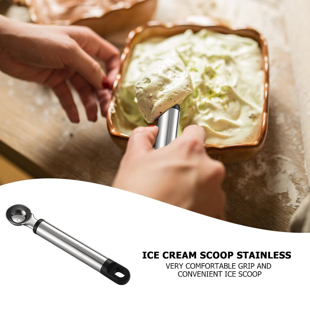 Ложка для мороженого из нержавеющей стали, арбуз, льдогенератор, йогурт, лопата для фруктов, бытовые кухонные инструменты, Новые легкие прин...
