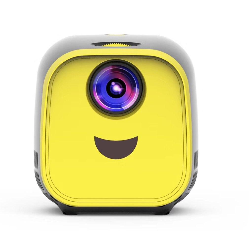 L1 New Mini Projector WIFI USB Children Portable Projector Support Full HD 1080P Mini Early Education Projector Black version