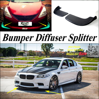 Car Splitter Diffuser Bumper Canard Lip For BMW 5 M5 E28 E34 E39 E60 E61 Tuning Body Kit / Deflector Car Fin Chin Reduce Body image