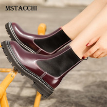 MStacchi 2020 Fashion Ankle Booties Patent Leather Ladies Boots Women Platform Boots Sexy Woman Shoes Plus Velvet Calzado Mujer
