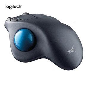 Image 2 - Hãng Sản Xuất Tân Trang: Logitech M570 2.4 GHz Không Dây Trackball Chuột Ergonomic Đứng Chuyên Nghiệp Vẽ Chuột Laser