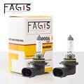 Fagis 2 шт. лучшая 9006 HB4 белая галогенная лампа высокой мощности 55 Вт 12 в автомобильный противотуманный DRL головной светильник Авто головной све...