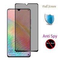 5D 9H Della Copertura Completa Privacy Vetro Temperato Per Huawei Compagno di 20 X Anti Spy Pellicola Protettiva Per Huawei Mate 20 20X Protezione Dello Schermo