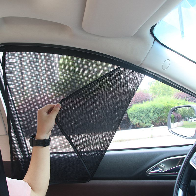 Car Sun Shade UV Protection Auto Window Cover Sunshade Curtain Summer Mosquito Mesh Dust Protection Car-covers