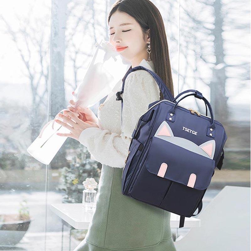 Lequeen Backpack  Patchwork Travel bag Prints Diaper bag Nursing bag Backpack Mummy bag  Bebe accesorries