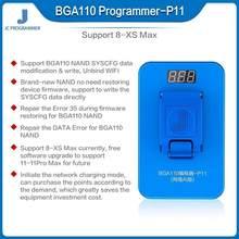 Jc p11 p11f bga110 programador para iphone 8/8p/x/xr/xs/xsmax nand flash para apple bga 110 nand syscfg reparação de modificação de dados