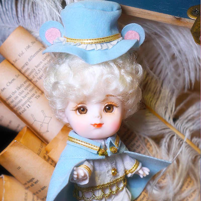 חלום פיות 1/12 BJD חיות גרסה דודו בובה עם שיער 14cm מיני בובת 26 משותף גוף חמוד ילדי מתנה צעצוע ob11
