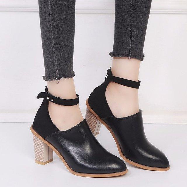 Купить mudibear/2020 женские ботинки на танкетке деловые туфли высоком картинки цена