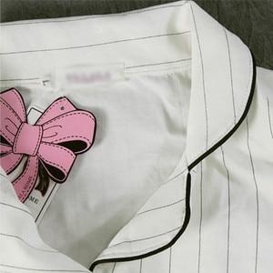 Image 5 - مخطط منامة مجموعات النساء القطن بيجامة عادية 2 قطعة ملابس خاصة مجموعة Homewear 2019 الخريف النساء صالة ليلة الدعاوى دروبشيبينغ