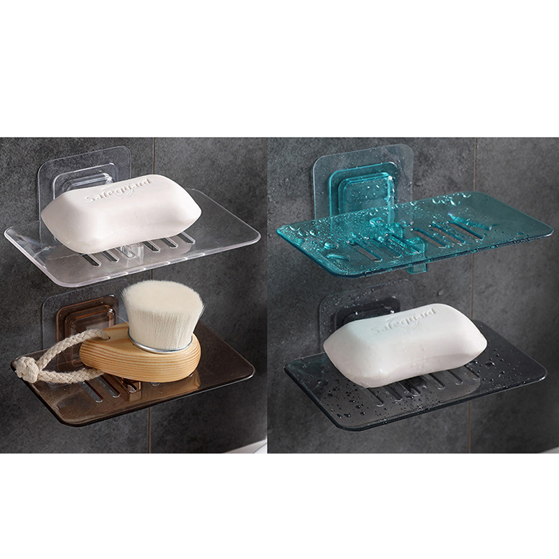 1pc Case Soap Holder  Housekeeping Container Organizers 2019 Quality Bathroom Shower Soap Box Dish Storage Plate Tray Holder