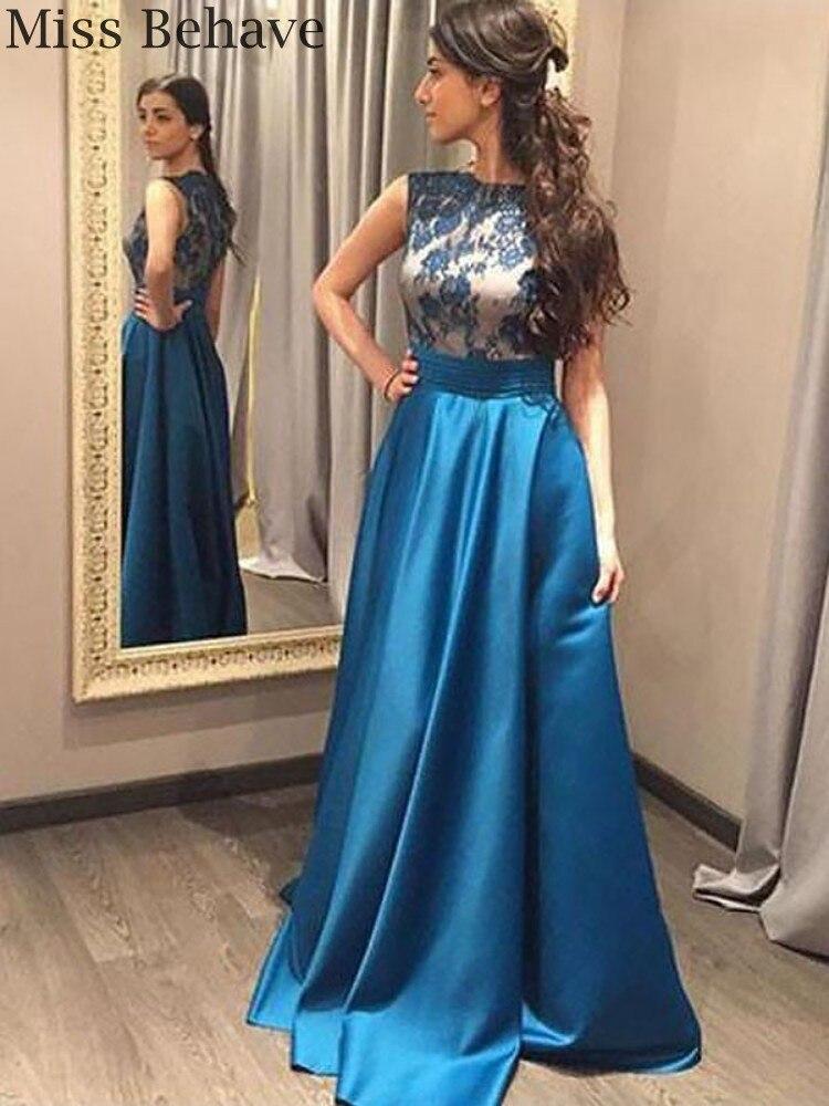 DD JYOY Satin Evening Dress Long 2020 Lace Body Elegant Women Formal Dress with Train Zipper Back Sleeveless