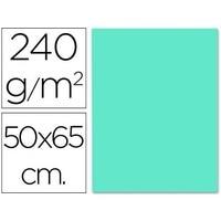 Cardboard led paper 50X65 CM 240G/M2 turquoise blue 125 units