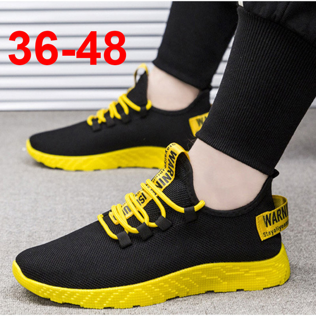Bomlight 2019 Mesh Sneakers Men Casual Shoes Lace up Men Shoes Male Lightweight Sneakers Yellow Black Red Tenis Masculino Adulto