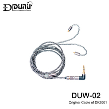 DUNU DUW02 DUW-02 3.5mm High-purity Silver-plated OCC Copper Litz wire,Original Cable of DK2001,Catch-Hold MMCX/0.78mm Connector