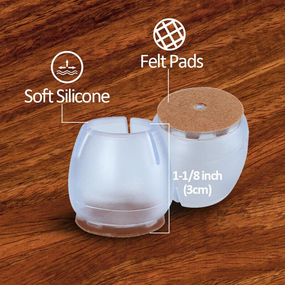 1pc Non-slip Furniture Table Covers Socks Silicone Chair Leg Caps Feet Pads Floor Protectors Round Bottom Tool 7Size