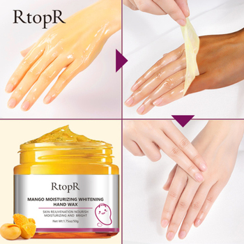 RtopR Mango Hand Mask Whitening Moisturizing Repair Exfoliating Calluses Hand Wax Filming Anti-Aging Hand Skin Cream 50g TSLM1 1