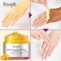 Отбеливающая увлажняющая восстанавливающая отшелушивающая маска для рук RtopR с манго, воск для рук, съемный антивозрастной крем для кожи рук...