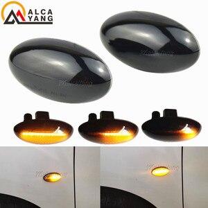Image 4 - Für Peugeot 307 206 207 407 107 607 Citroen C1 C2 C3 C5 LED Dynamische Blinker Licht Fließende Wasser seite Marker Anzeige Licht