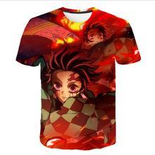 3D Girl clothes Summer Demon Slayer baby boys T-Shirt Kimetsu No Yaiba kids t shirt Graphic tees Japan Anime camisetas Tops женская футболка 3d 2015 t emoji t camisetas flowers