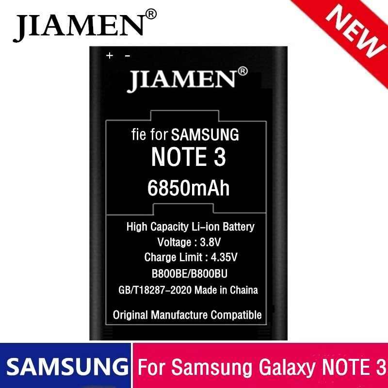 סוללה עבור samaung גלקסי הערה 3 N900 N9006 N9005 N9000 N900A N900T N900P B800BE עבור Samsung המקורי חדש סוללה 6850mAh