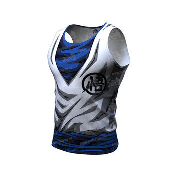 2020 Newest Gyms Workout Hoodies Sleeveless Shirt Dragon Ball Tank Top Men Bodybuilding Fitness Sportswear Vests Muscle Singlets