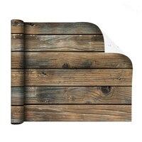 Rustikalen Distressed Braun Holz Tapeten Schälen Und Stick Self Adhesive Wallpaper Für Arbeitsplatte Schlafzimmer Wasserdicht Einfach zu Bedienen