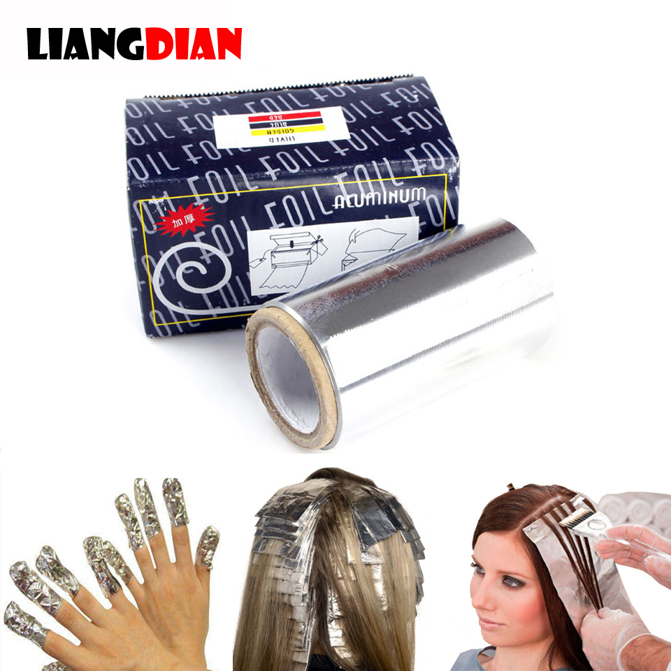 1 Roll 50m Hairdressing Styling Tin Foils Tape Thicken Hair Salon Manicure Supplies Highlights Foil Roll Gradient Modelling Tool