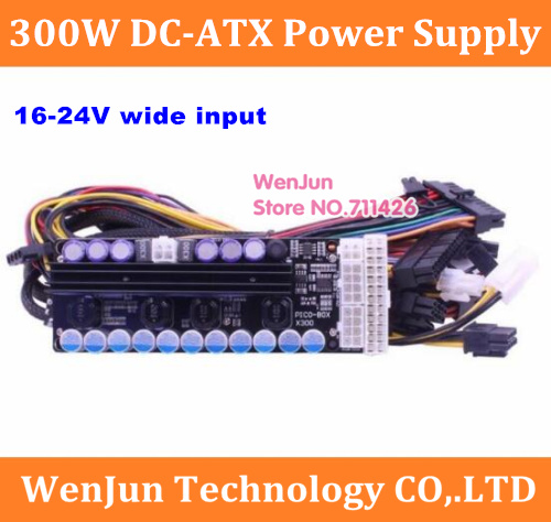 X300, 300w output, 16-24v wide input <font><b>DC</b></font>-<font><b>DC</b></font> <font><b>ATX</b></font> Power Supply (VR Ready Pico <font><b>PSU</b></font>) MINI ITX <font><b>DC</b></font> to Car <font><b>ATX</b></font> PC Power Module GTX1070 image