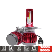 2Pcs H7 LED Mini Car Headlight Bulb H1 H4 H11 HB3 HB4 9005 9006 9000LM 50W 3000K 8000K LED Car Lights 12V Auto Headlamp Fog Lamp 2x mini size h1 h7 led h4 h11 hb3 hb4 9005 9006 led car headlight bulb 6000k 9000lm 36w auto lights 12v automobile fog lamp bulb