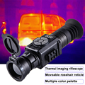 35/50mm Thermal Imaging Sight Scope Movable Crosshair Reticle Ranging Riflescope for Hunting WIFI Video Output Thermal Monocular