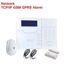 Engels Italiaans Frans Voice RJ45 Tcp Ip Alarm Draadloze Gsm Alarmsysteem Smart Home Security Alarm Inbraakalarm Controle Door web