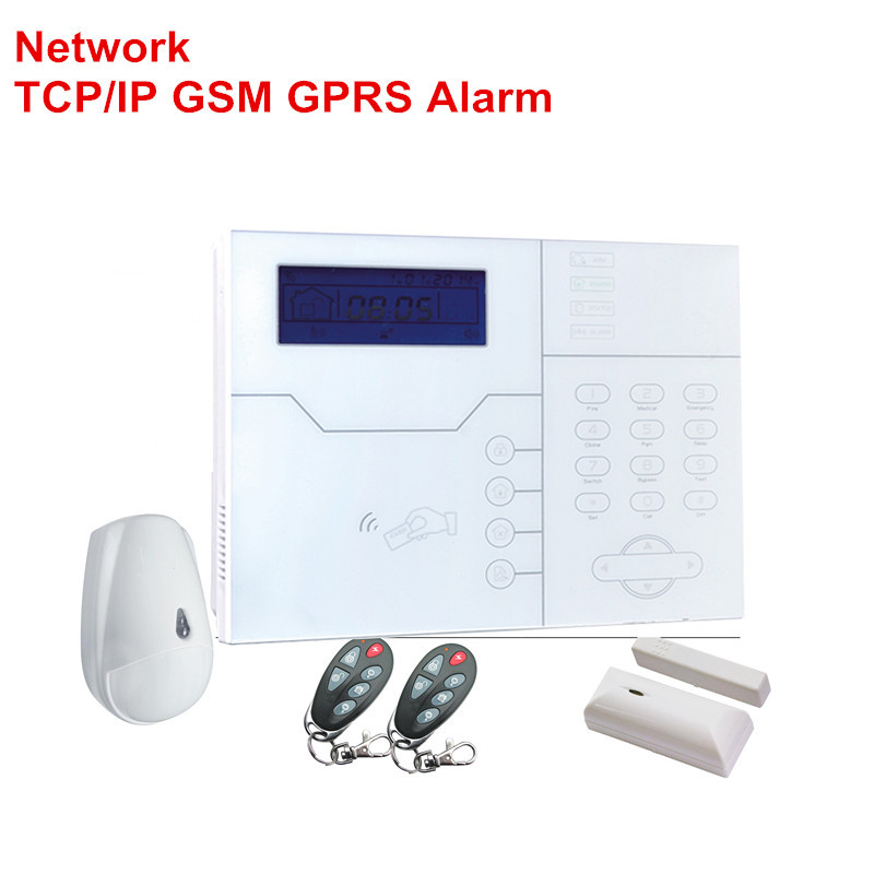 English Italian French Voice RJ45 TCP IP Alarm Wireless GSM Alarm System Smart Home Security Alarm Intruder Alarm Control By Web