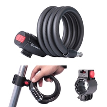 цена на Anti Theft Bike Lock 5 Digit Code Combination Bicycle Security Lock Steel Cable Spiral Bike Cycling Bicycle Lock