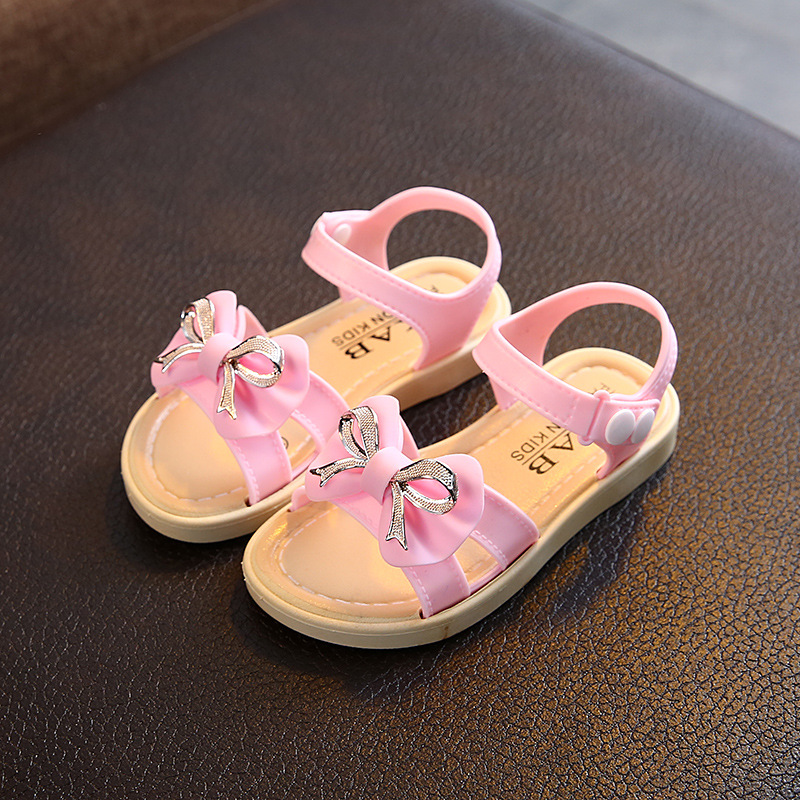 Kids Sandals For Toddlers Girls Children Princess Sweet Sandals PVC Soft Bow-knot Cute Korean Style Sandals Hot Sale 21-35 New